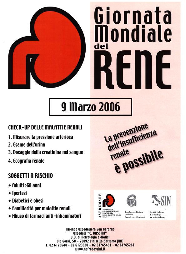 ASPREMARE 2006 Giornata Mondiale Rene