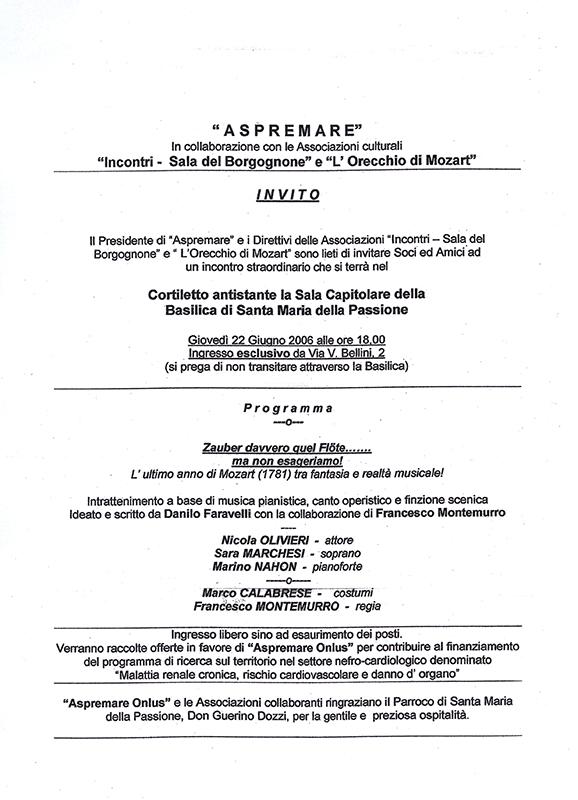 ASPREMARE 2006 Incontri
