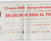 ASPREMARE 2009 Giornata Mondiale Rene